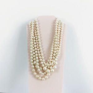 J. Crew • Pearl Twisted Hammock Necklace